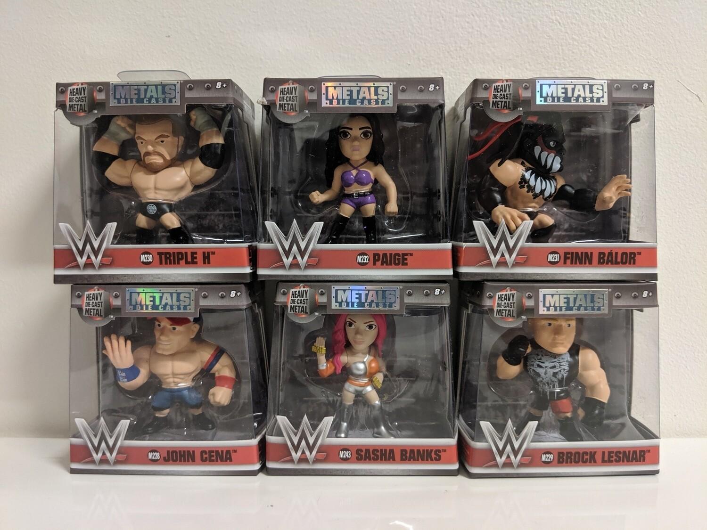 """WWE - 2.5"""" Metals set of 6"""