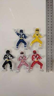 Mighty Morphin Power Rangers collectible figures set of 5