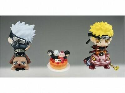 Order: NARUTO - PETIT CHARA! NARUTO & KAKASHI WITH ORANGE CAKE FIGURE 2 PACK