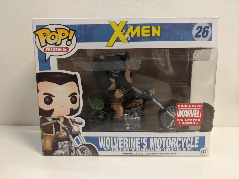 X men - Wolverine Motorcycle Pop! Vinyl