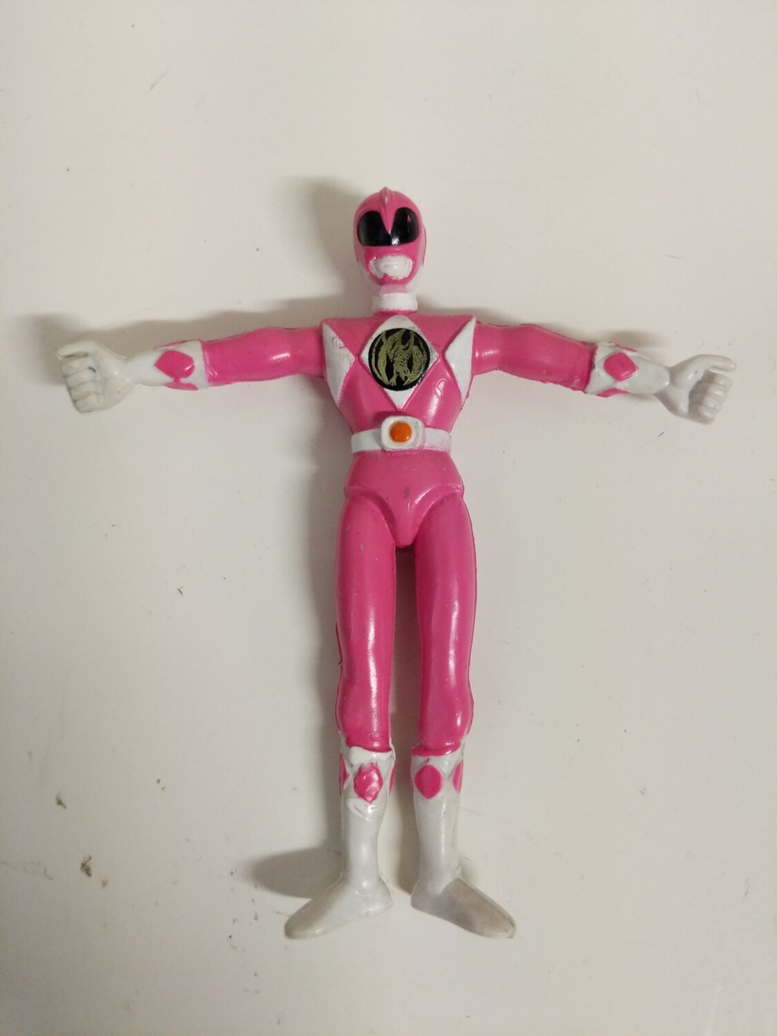 Mighty Morphin Power Rangers rubber bendable figure : Pink Ranger
