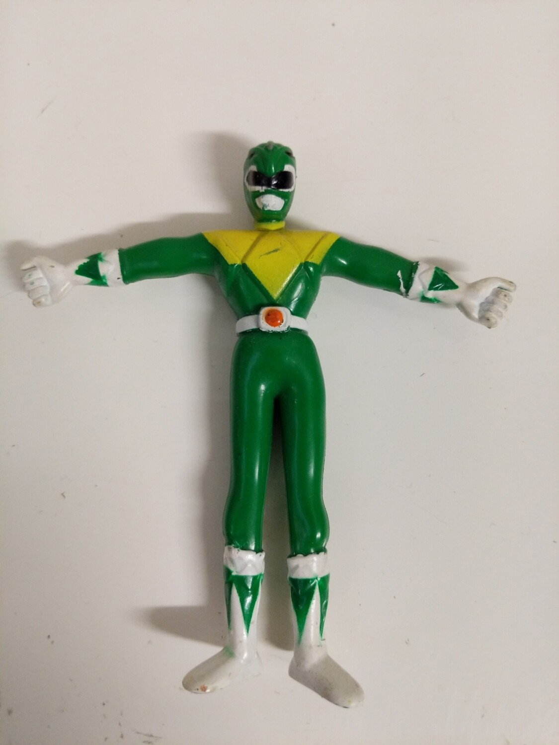Mighty Morphin Power Rangers rubber bendable figure : Green Ranger