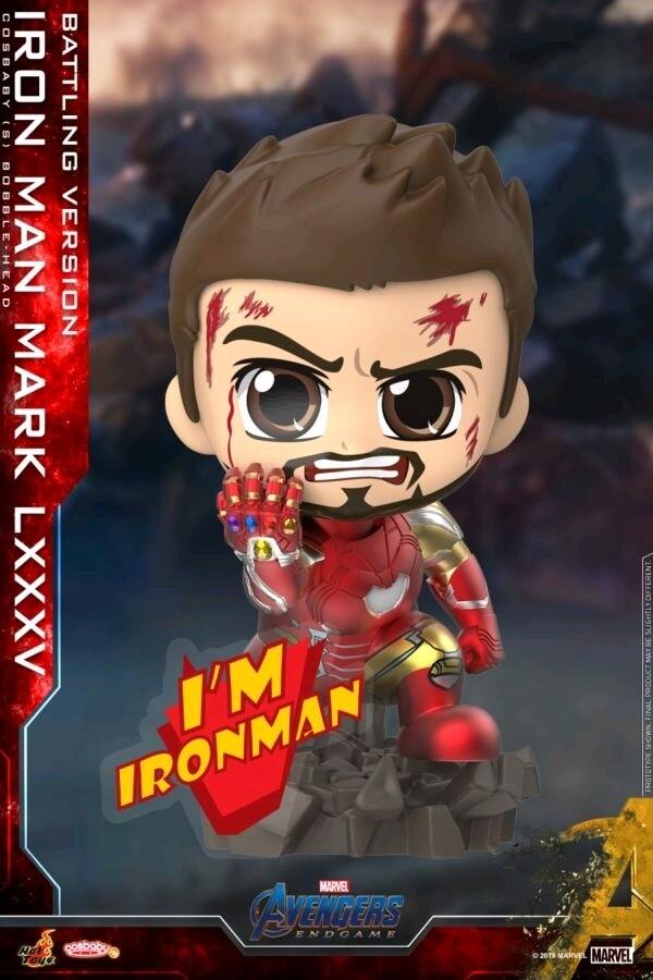 Avengers 4: Endgame - Iron Man Mark LXXXV Battling Cosbaby