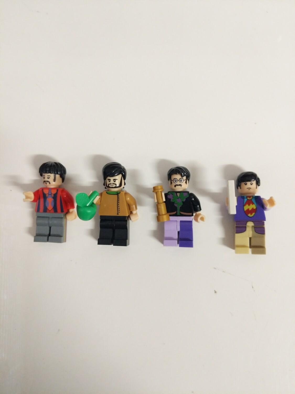 Lego Minifigure tye Beatles set of 4