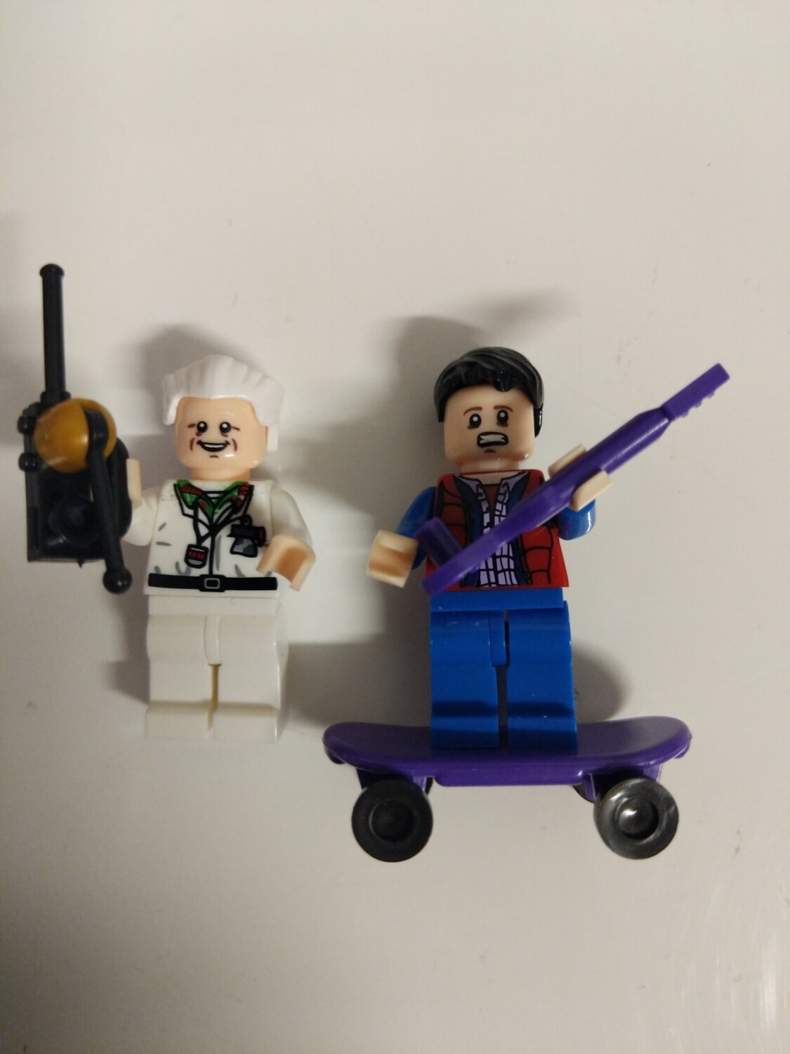 Lego Minifigure Back to the future- Dr Emmett and Marty Mcfly