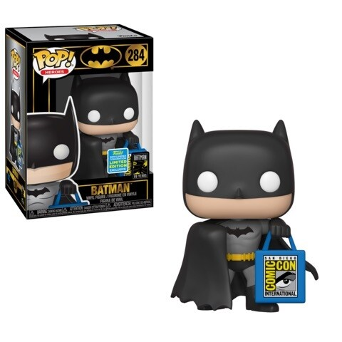 Batman with SDCC bag Exclusive pop Vinyl