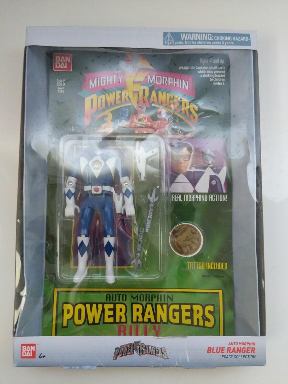 Mighty Morphin Power Rangers: blue Ranger Auto Morph Flip Head 2019 (damaged box)