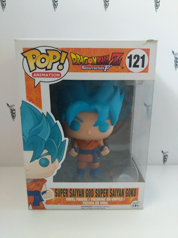 Pop Vinyl Dragonball Super Saiyan God Blue Hair Goku