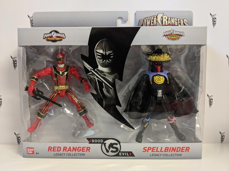 Legacy Power Rangers- Red Ranger and Spellbinder 2 pack