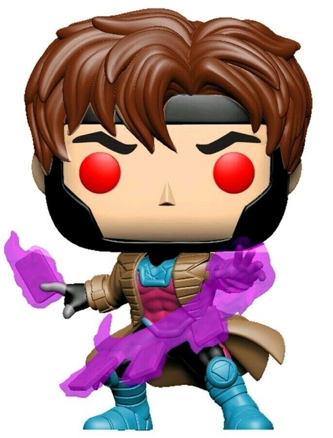 X-Men - Gambit with cards Translucent Glow US Exclusive Pop! Vinyl [RS]