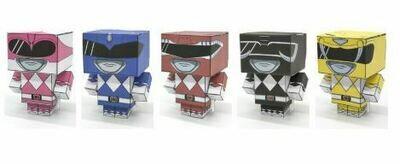 Mighty Morphin Power Rangers Paper Folding Cube Model (set of 5)