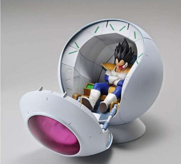 DRAGON BALL - FIGURISE MECHANICS - SAIYAN SPACE POD WITH VEGETA SPACESHIP