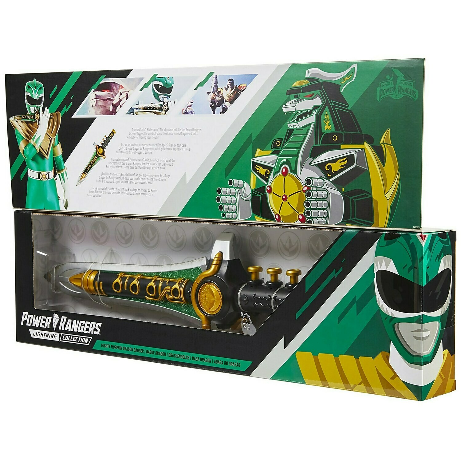 Hasbro Power Rangers Lightning Collection Mighty Morphin Green Dragon Dagger