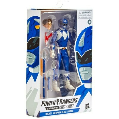 Hasbro Power Rangers Lightning Collection Mighty Morphin Blue Ranger 6-Inch Premium Collectible Action Figure