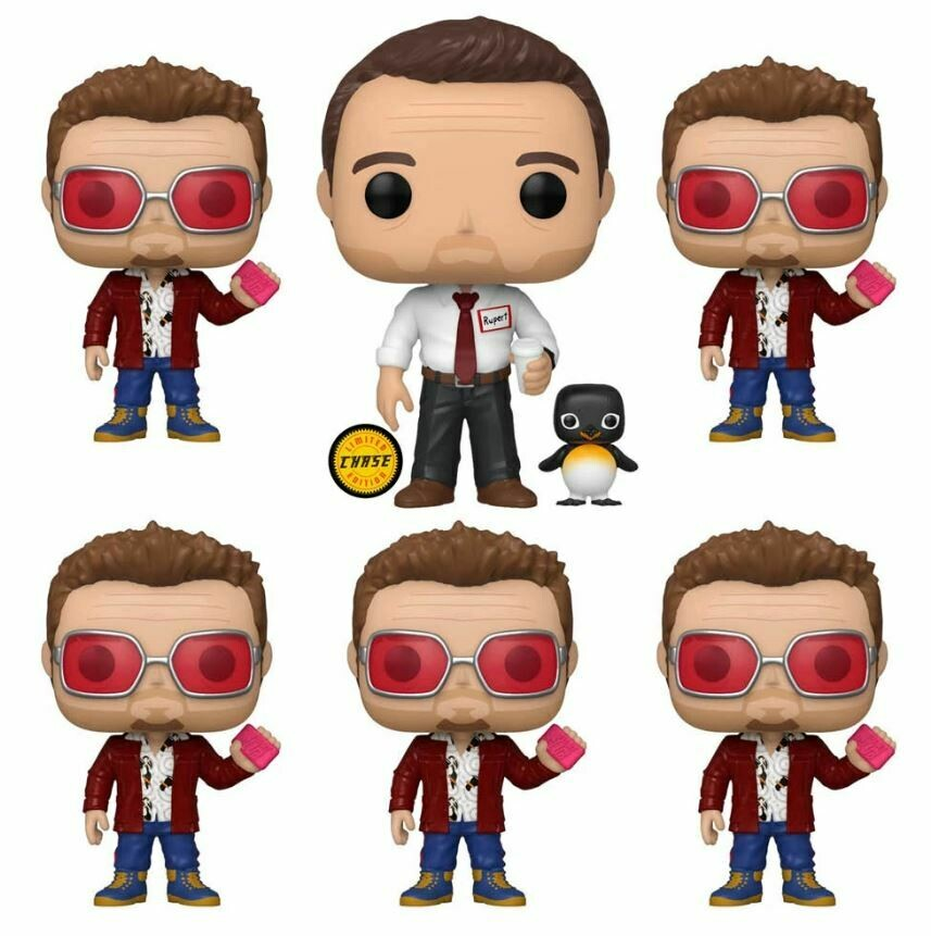 Fight Club - Tyler Durden Pop! Vinyl Figure Set of 5 including 1 chase (set of 5)