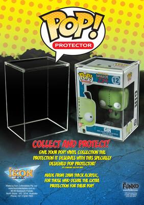 1 x 4″ hard Case Pop Protector (2mm Acrylic Box)
