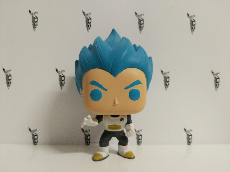 Dragonball- super saiyan god vegeta blue hair