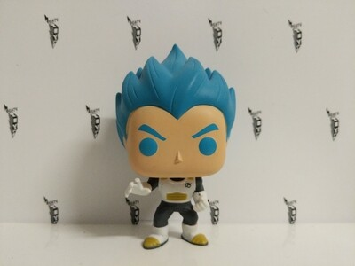 Dragonball- super saiyan god vegeta blue hair