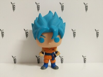 Dragonball - super Saiyan god Goku blue hair pop vinyl