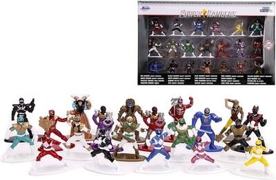 Jada Toys Nano Metalfigs Power Rangers diecast Mini Figures 20 Pack