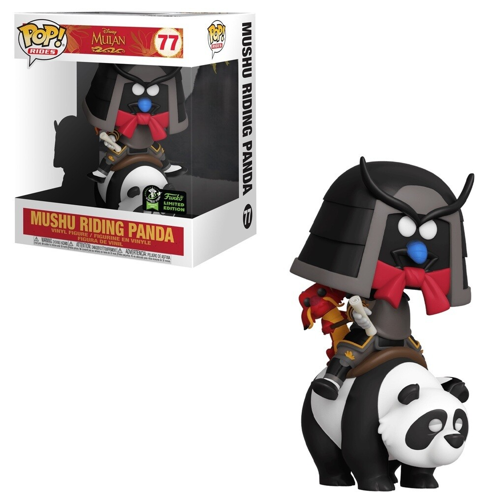 Mulan- Mushu riding Panda Pop! Vinyl ECCC 2020