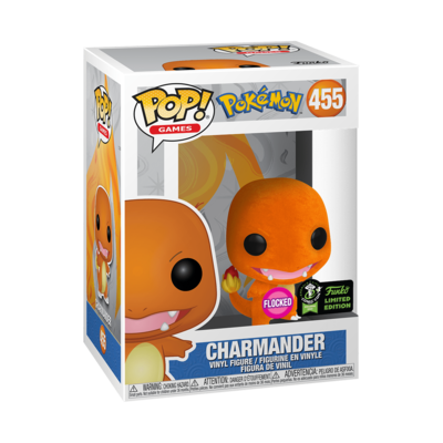 Pokemon- Charmander Flocked Pop! Vinyl ECCC 2020