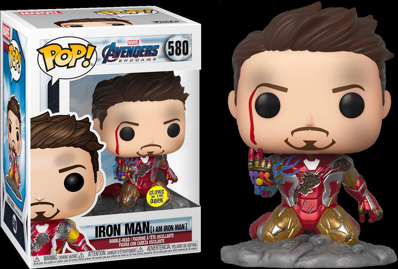 Avengers 4: Endgame - I Am Iron Man Glow in the Dark Deluxe Pop! Vinyl Figure