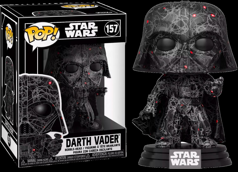Pre-Order: Star Wars - Darth Vader (Futura) US Exclusive Pop! with Protector [RS]