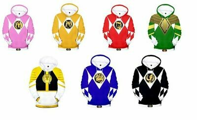 Mighty Morphin Power Rangers Jumper Hoodie
