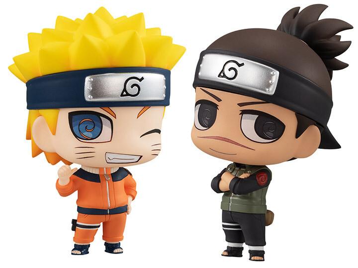 Pre-Order: Naruto Chimi-Mega Buddy! Umino Iruka & Uzumaki Naruto Two-Pack
