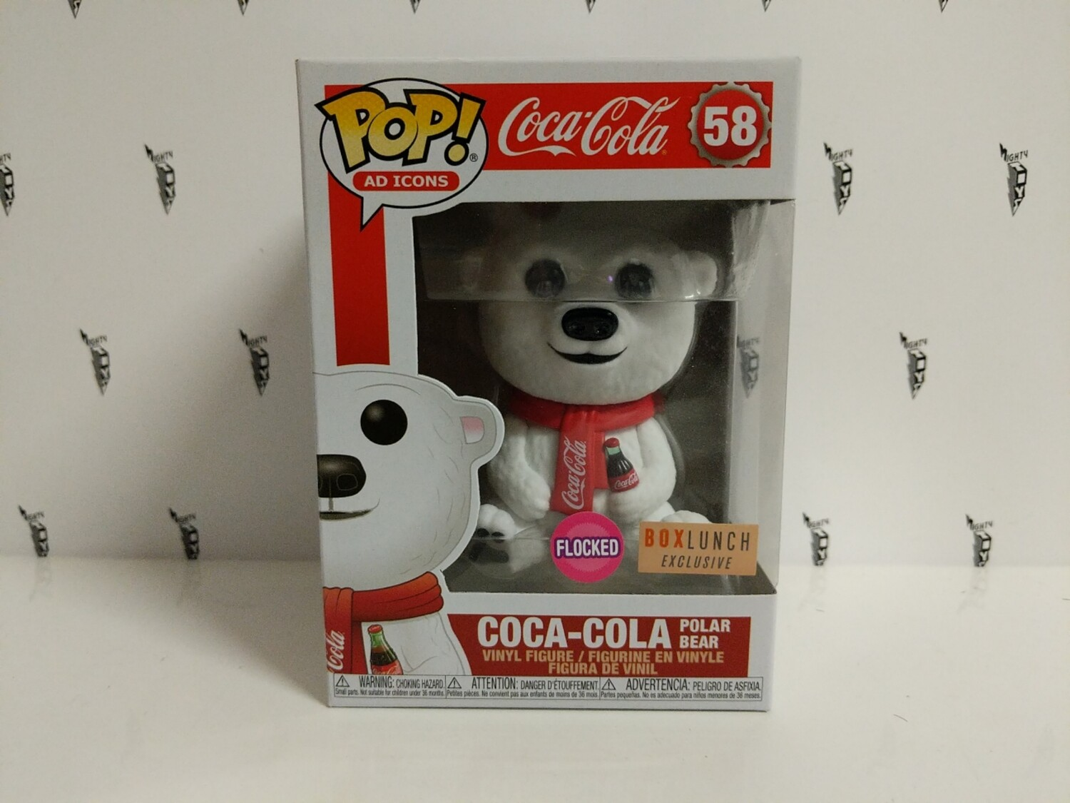 Coca-Cola Polar Bear Flocked Pop! Vinyl
