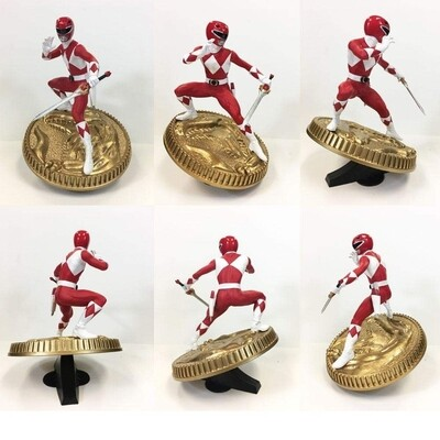 Pre-order: Mighty Morphin Power Rangers PVC Statue Red Ranger 23 cm