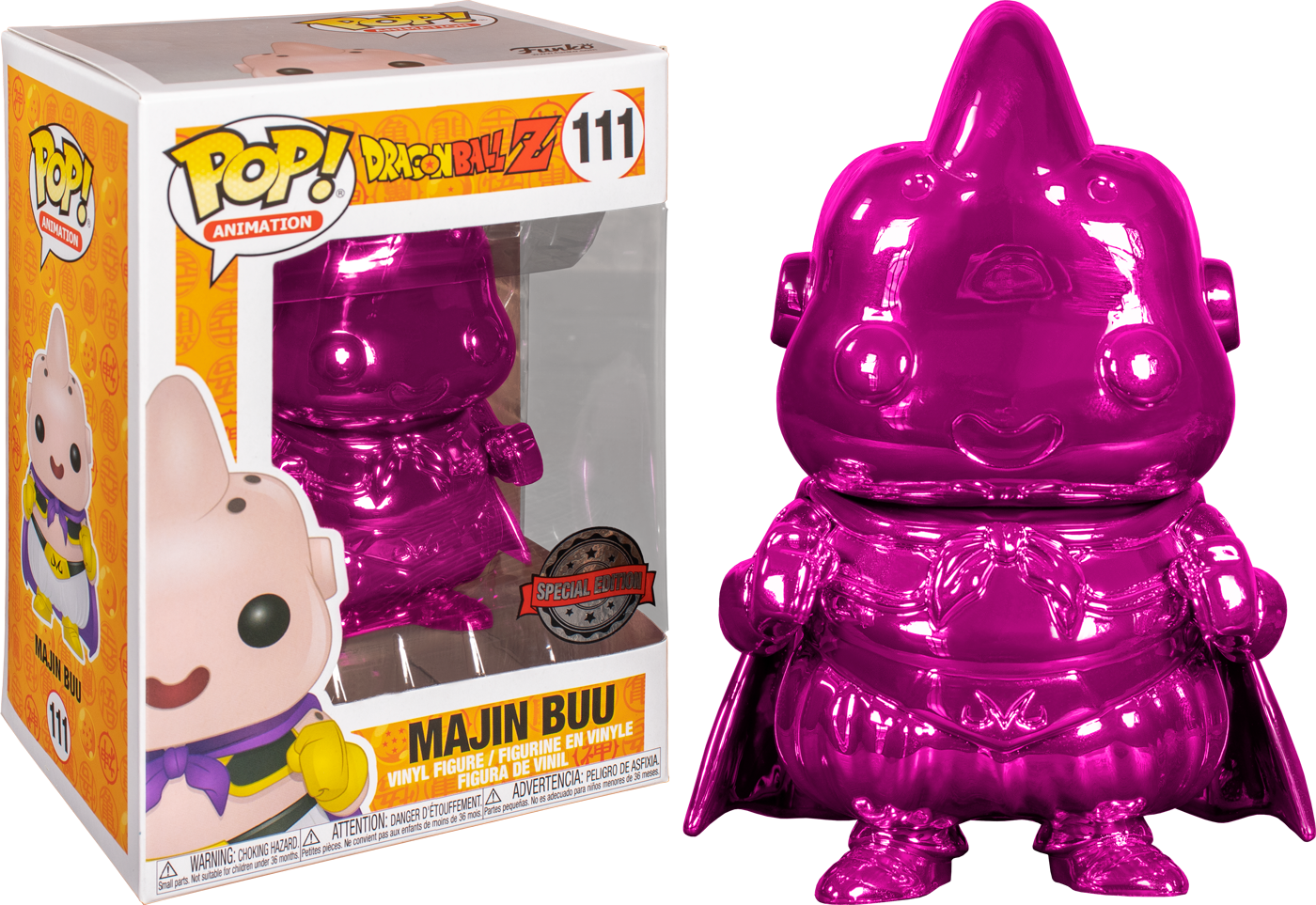 Dragon Ball Z - Majin Buu Pink Chrome US Exclusive Pop! Vinyl [RS]