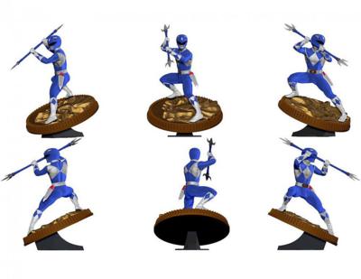 Pre-order: Mighty Morphin Power Rangers PVC Statue Blue Ranger 23 cm
