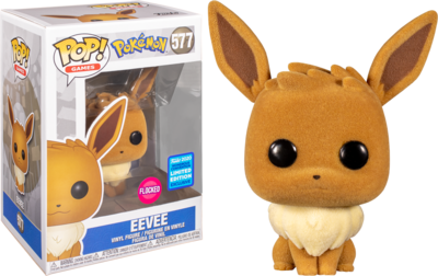 POKEMON - EEVEE FLOCKED POP! VINYL FIGURE (2020 WONDROUS CONVENTION EXCLUSIVE) (RS)