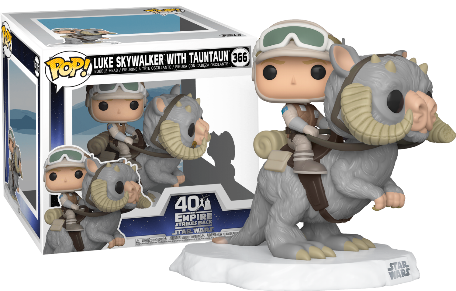 STAR WARS EPISODE V: THE EMPIRE STRIKES BACK - LUKE SKYWALKER ON TAUNTAUN DELUXE POP! VINYL FIGURE