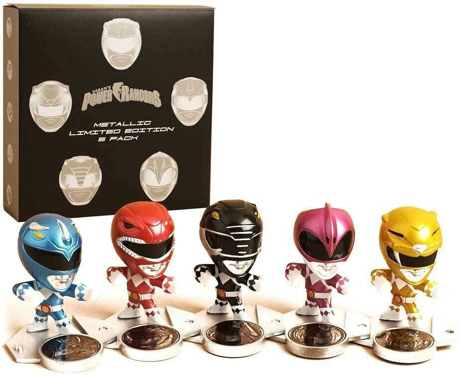 Lootcrate Power Rangers metallic Set of 5