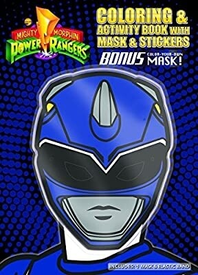 Coloring and Activity Book with Mask (Blue Mask), Power Rangers
