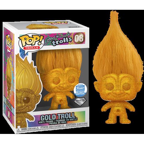 Good Luck Trolls - Diamond Collection Gold Troll Pop! Vinyl Figure (Funko Shop Exclusive)