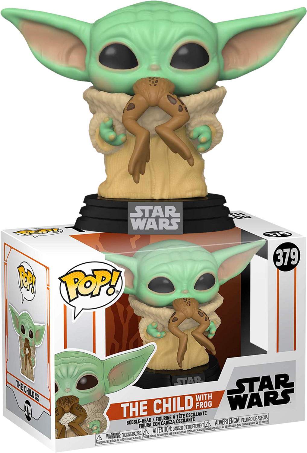 Star Wars: The Mandalorian - The Child (Baby Yoda) with Frog Pop! Vinyl Figure