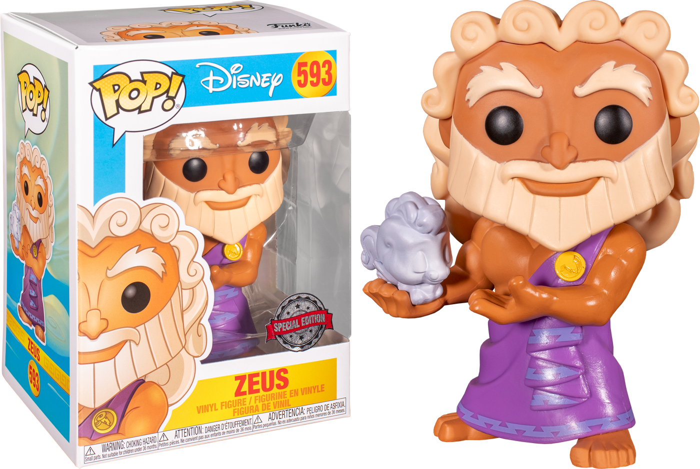 Hercules - Zeus holding Cloud Pegasus US Exclusive Pop! Vinyl