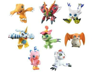 Digimon Adventure DigiColle! Mix Box of 8 Figures (With Bonus Item)