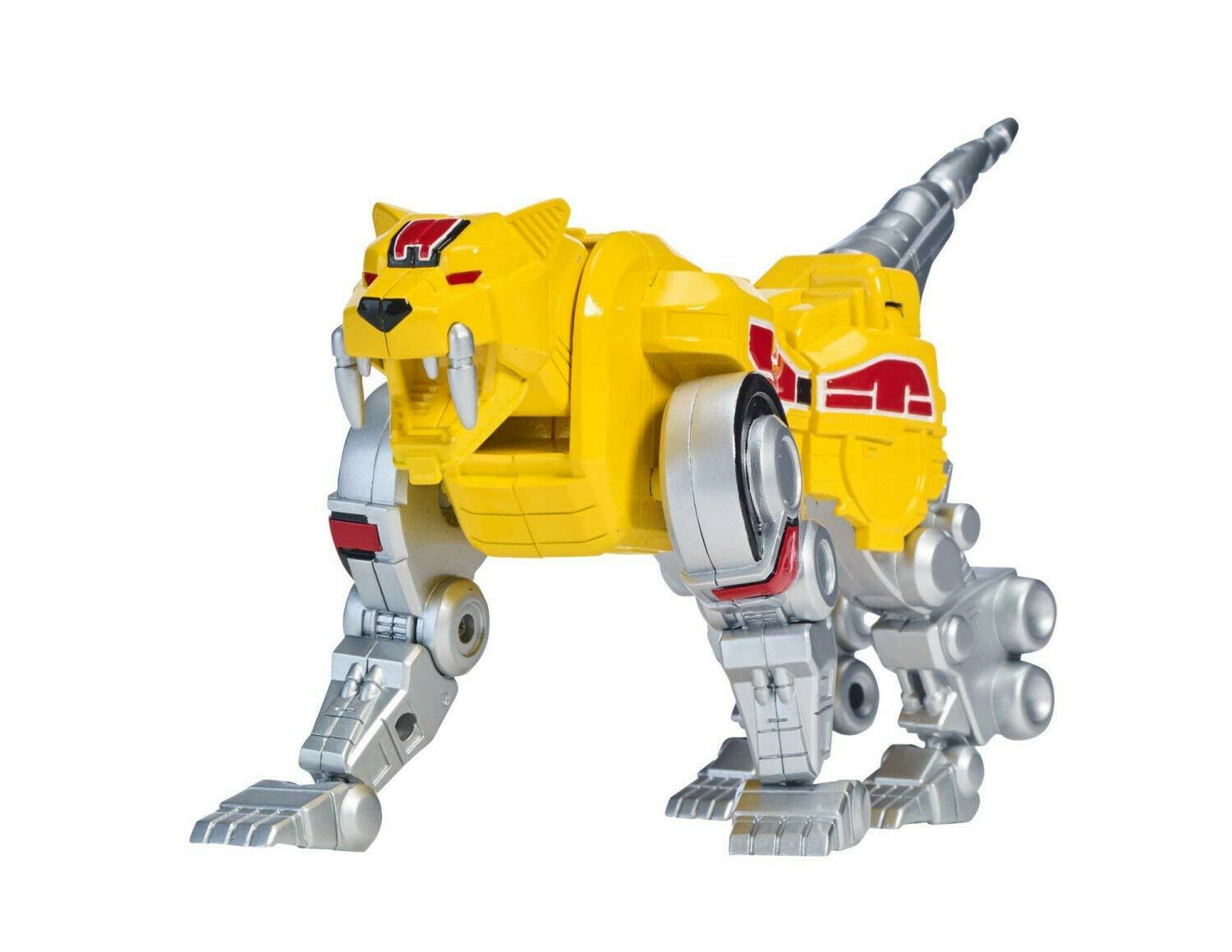 """Mighty Morphin Power Rangers - Sabertooth Tiger Zord with Yellow Ranger Legacy Collection 6"""" Action Figure Set"""