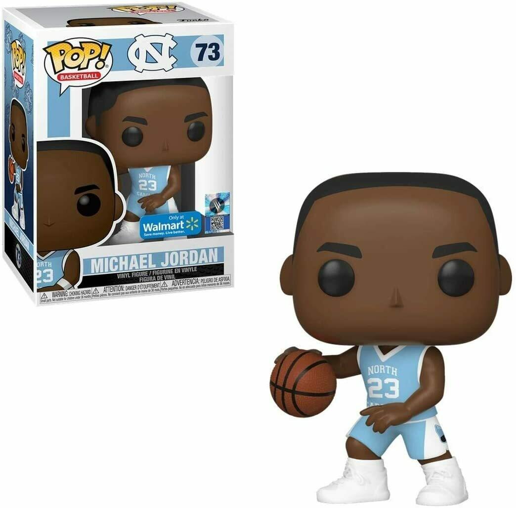 Basketball: UNC Michael Jordan Pop Vinyl Figure (Home Jersey) Walmart Exclusive