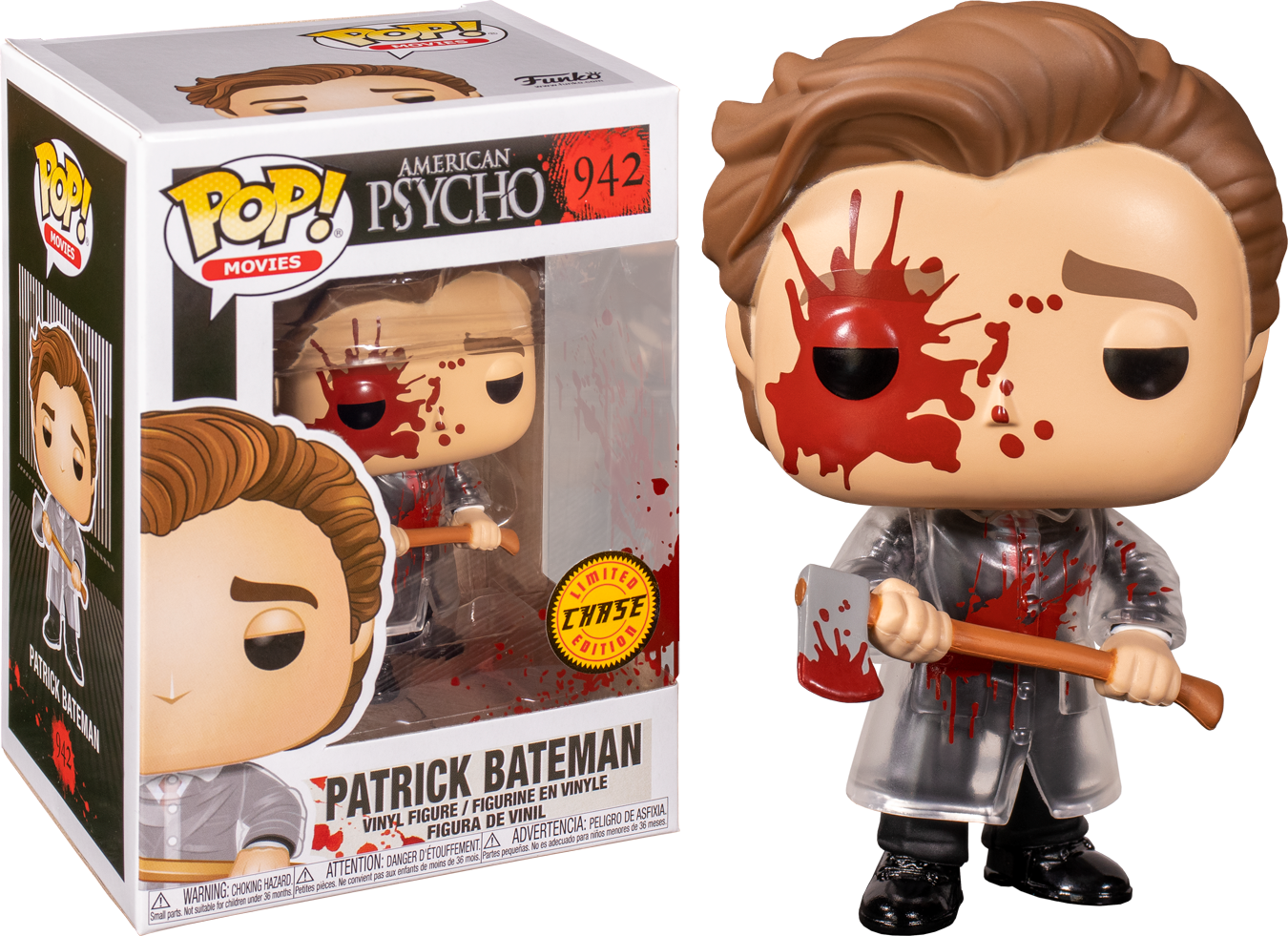 American Psycho - Patrick with Axe Chase Pop! Vinyl BOX OF 5