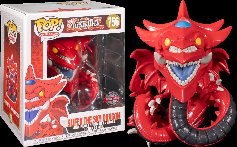 "Pre-Order: Yu-Gi-Oh! - Slifer the Sky Dragon 6"" Super Sized Pop! Vinyl Figure"