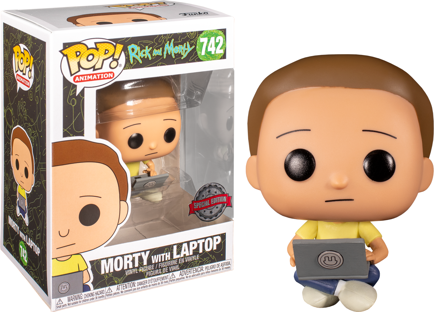 Rick and Morty - Morty with Laptop Pop! Vinyl Figure