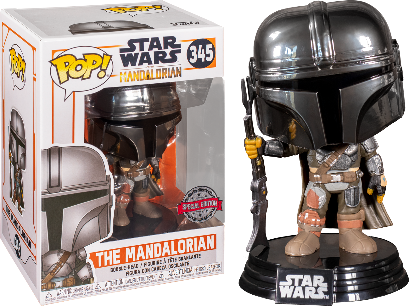 Star Wars: The Mandalorian - Mandalorian Chrome US Exclusive Pop! Vinyl