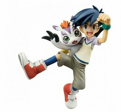 DIGIMON - GEM ADVENTURE JOE & GOMAMON FIGURE