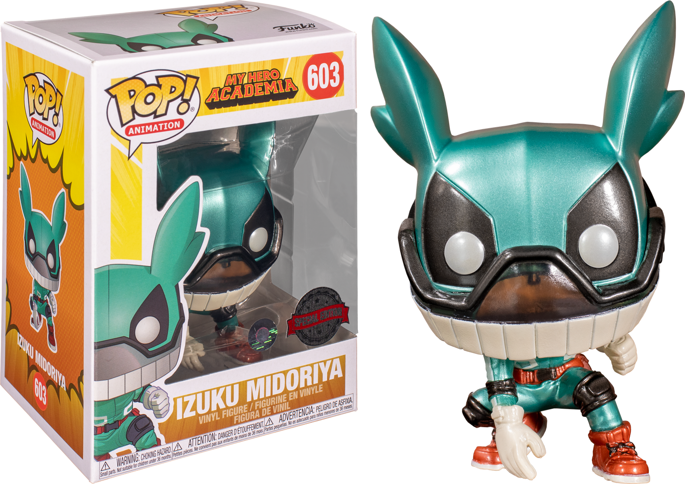 My Hero Academia - Izuku Midoriya (Deku with Helmet) Metallic Pop! Vinyl Figure